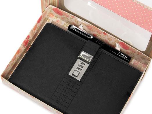 Блокнот-ежедневник с кодовым замком CAGIE Biz 96 Черный NA-56896