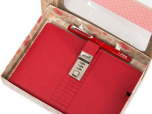Блокнот-ежедневник с кодовым замком CAGIE Biz 96 Розовый NA-56897