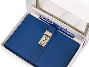 Блокнот-ежедневник с кодовым замком CAGIE Biz 96 Синий NA-56898, фото 2