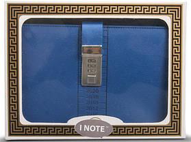 Блокнот-ежедневник с кодовым замком CAGIE Biz 96 Синий NA-56898, фото 3