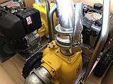Дизельна грязьова мотопомпа Varisco VAR 2-120 MLD56 G10 TROLLEY на візку, фото 2