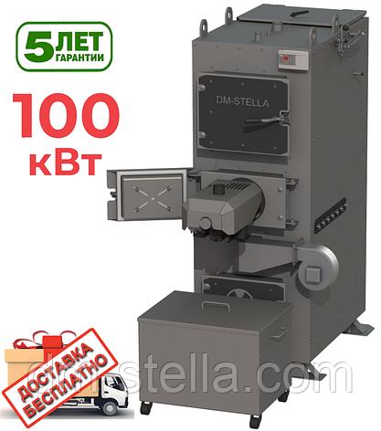 Котел на пеллетах с системой автоудаления золы 100 кВт DM-STELLA (двухконтурный), фото 2