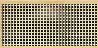 Панель (решетка) декоративная перфорированная, цвет дуб сонома,  1390 мм х 680 мм Эфес