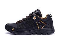 Черные мужские кожаные кроссовки Merrell Tracking реплика