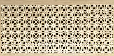 Панель (решетка) декоративная перфорированная, цвет дуб сонома,  1390 мм х 680 мм Сити