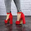 Женские красные босоножки на каблуке Danny 1748, фото 7
