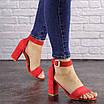 Женские красные босоножки на каблуке Moby 1559, фото 2