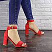 Женские красные босоножки на каблуке Moby 1559, фото 3