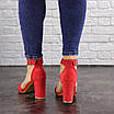 Женские красные босоножки на каблуке Moby 1559, фото 5