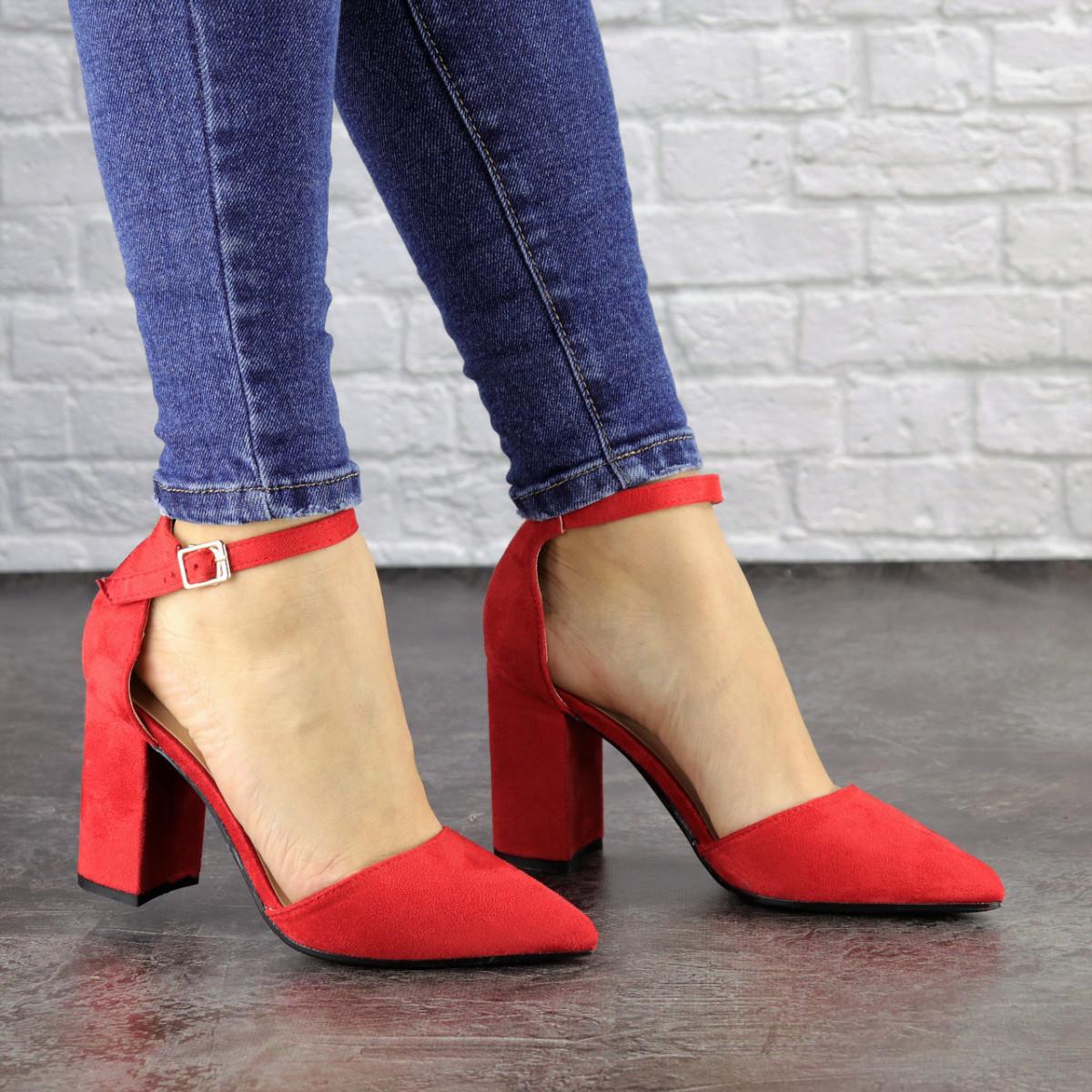 Женские красные туфли на каблуке Ellie 1469