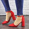 Женские красные туфли на каблуке Ellie 1469, фото 7
