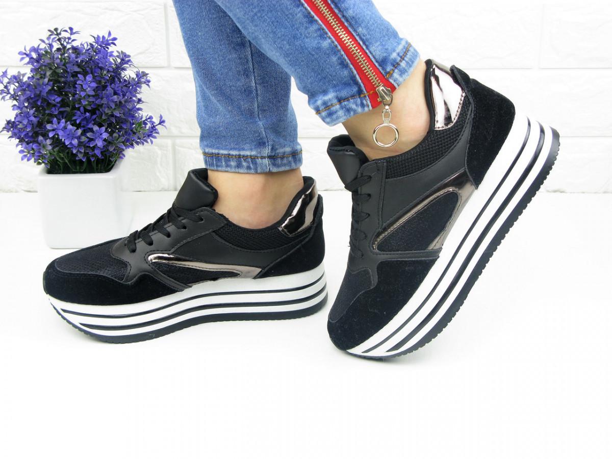 Женские кроссовки Alice черные 1075