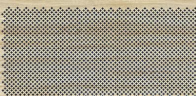 Панель (решетка) декоративная перфорированная, цвет дуб сонома,  1390 мм х 680 мм Роял