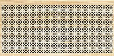 Панель (решетка) декоративная перфорированная, цвет дуб сонома,  1390 мм х 680 мм