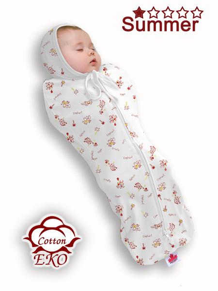 """Пеленка-кокон на молнии для новорожденного """"Африка"""" - Ontario Baby (DS1/Summer)"""