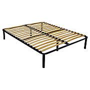 Каркас для полуторной кровати с ортопедическим эффектом Стандарт Усиленный 1400х1900/32 с ножками AMF