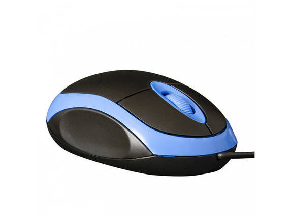 Мышь проводная Frime FM-001BB USB (800dpi) Black/blue, фото 2