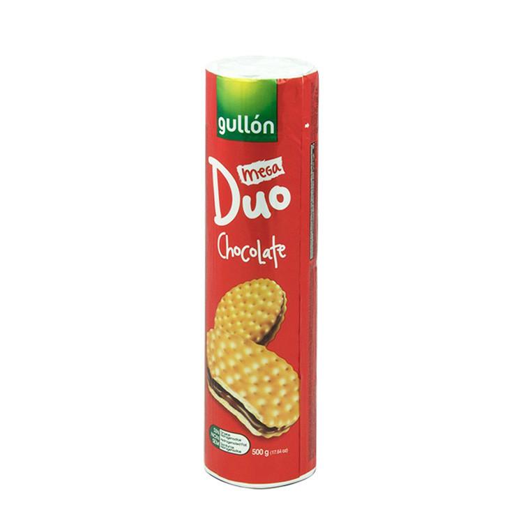 Печиво GULLON Duo Mega сендвіч світле з шоколадним кремом, 500г, 20шт/ящ