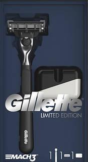 Подарунковий Набір Gillette Mach3 Бритва Gillette Mach3 з чорною ручкою + чохол 6026