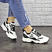 Женские кроссовки белые с черным Jinx 1664, фото 5