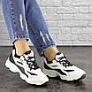 Женские кроссовки белые с черным Jinx 1664, фото 6