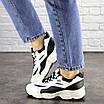 Женские кроссовки белые с черным Jinx 1664, фото 7