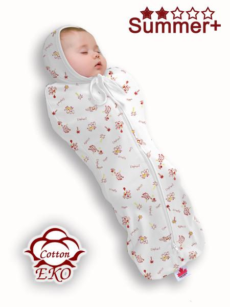 """Пеленка-кокон на молнии для новорожденного """"Африка"""" - Ontario Baby (DS1/Summer+)"""