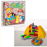 Настольная игра B3108   Мышка любит сыр, блоки, фигурка, рулетка, в кор-ке, 26,5-27-8см