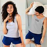 Мужская пижама майка+шорты от 48до 58р.(3расцв), фото 6