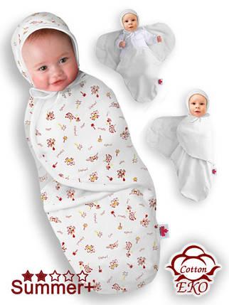 """Пеленка-кокон на липучке для новорожденного """"Африка"""" - Ontario Baby (DS3/Summer+), фото 2"""