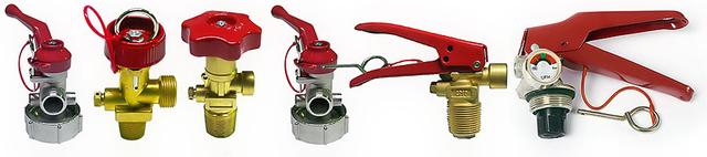 Запорно-пусковое устройство для огнетушителя