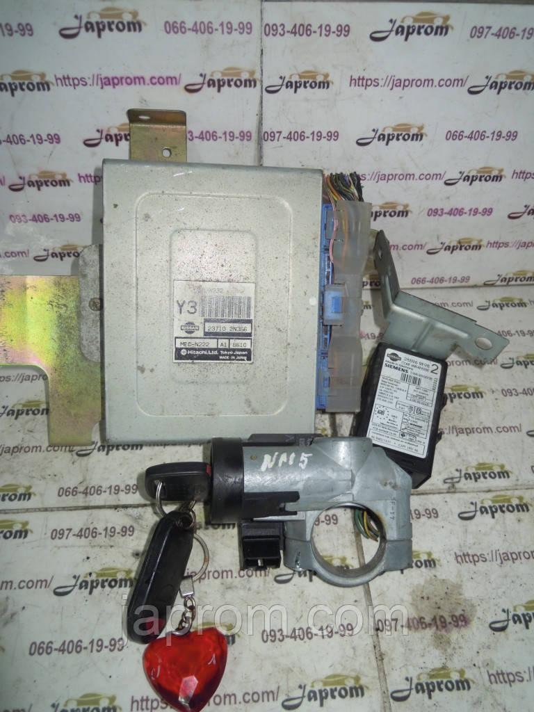 Блок управления двигателем (Комплект) Nissan Almera N15 1998-2000г.в. 1.4 бензин 237102N366