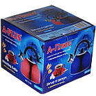 Чайник зі свистком для плити нержавійка A-PLUS 3 л, фото 5