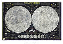 Подробная карта Луны (два полушария)