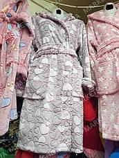 Халат махровый женский средней длины с капюшоном р.S,M,L, фото 3