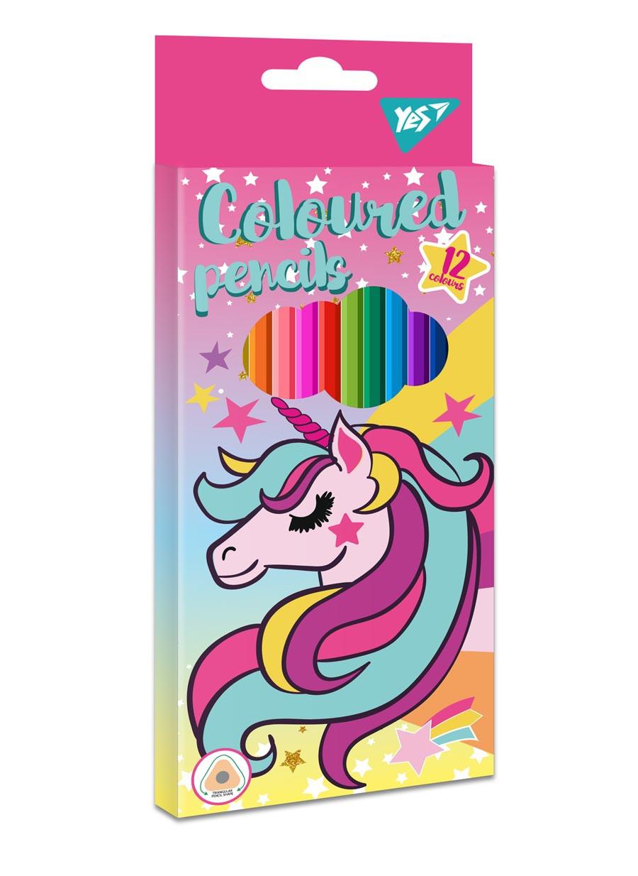 """Карандаши цветные YES 12 цв. """"Unicorn"""""""