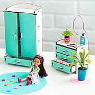 Мебель для кукольного домика Барби NestWood Спальня мятная (kmb005m), фото 6