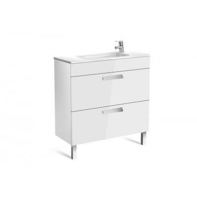 DEBBA шафка 80см, з 2ма ящиками, з умивальником, в комплекті з сифоном, білий