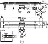 ADVANTIX VARIO душевой лоток высота 70мм, 300-1200мм, фото 2