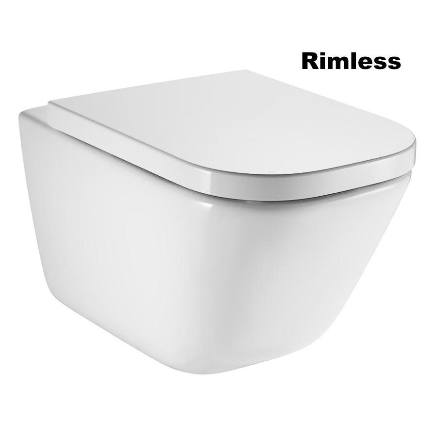 GAP Rimless унитаз подвесной с сиденьем с системой плавного опускания (в упак.)