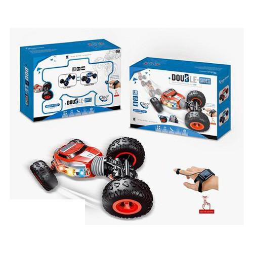 Купить Радиоуправляемые игрушки, Машина DH666-67 р/у2, 4G, аккум, 34см, 1:16, трюковая, рез.кол, свет, USBзар, в кор-ке, 40, 5-28-11см, Bambi