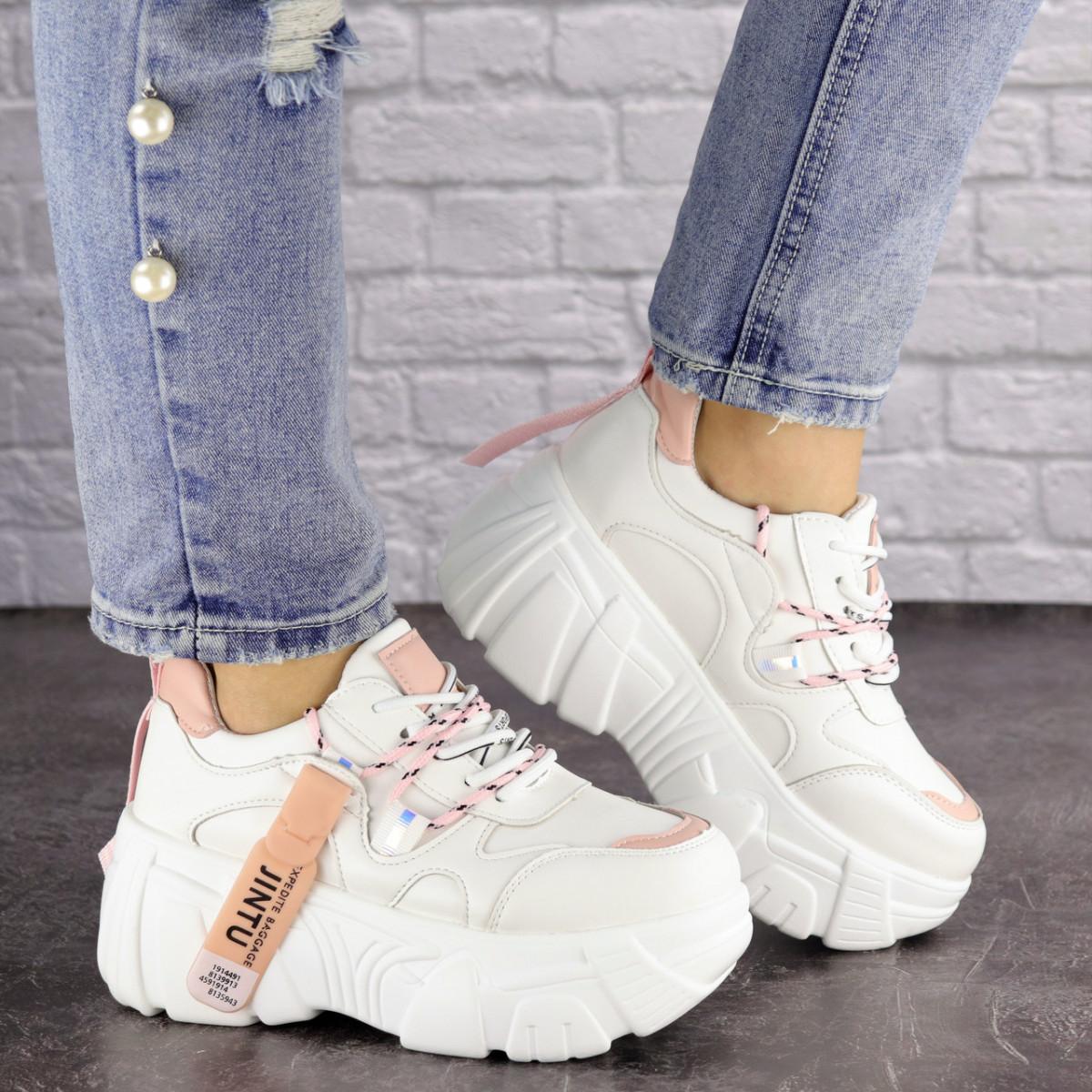 Женские стильные белые кроссовки Sabella 1515