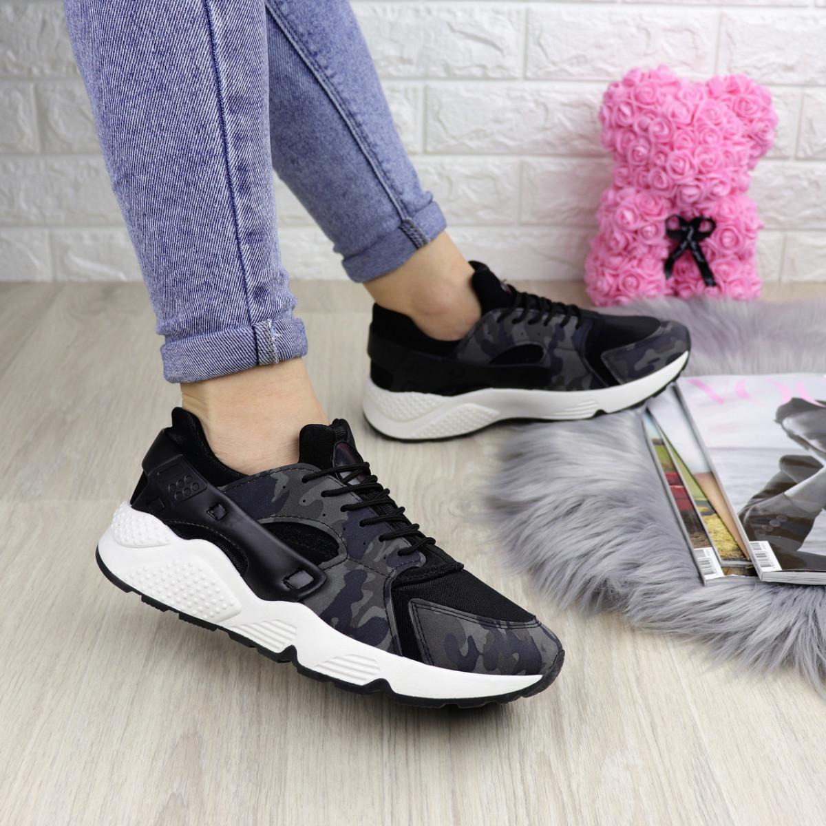 Женские стильные кроссовки Peggy черные 1095