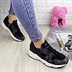 Женские стильные кроссовки Peggy черные 1095, фото 2