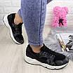 Женские стильные кроссовки Peggy черные 1095, фото 4