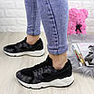 Женские стильные кроссовки Peggy черные 1095, фото 5