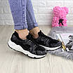 Женские стильные кроссовки Peggy черные 1095, фото 6