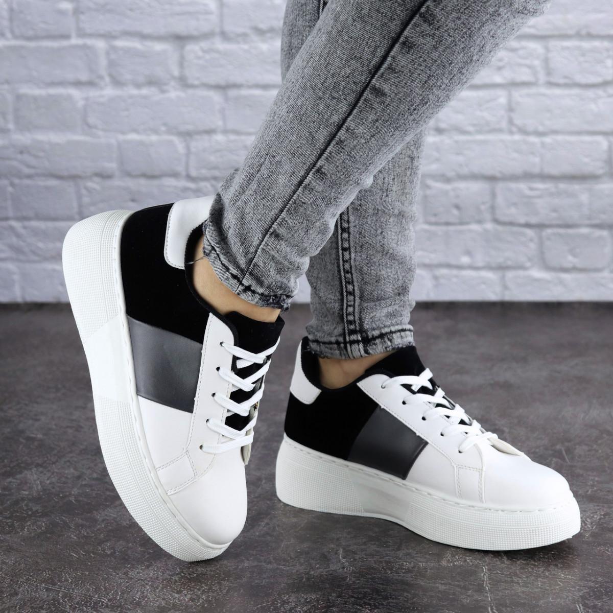 Женские стильные кроссовки белые Rory 1169