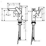 TALIS E 150 смеситель для умывальника, однорычажный, хром, фото 2