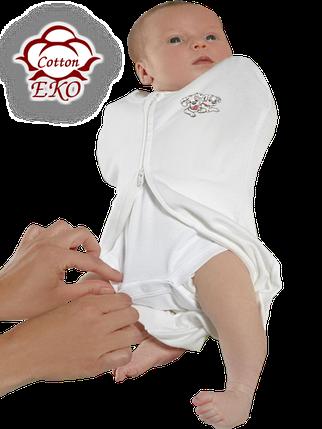 """Пеленка-кокон на молнии для новорожденного """"Дино"""" - Ontario Baby (DS1/Summer+), фото 2"""